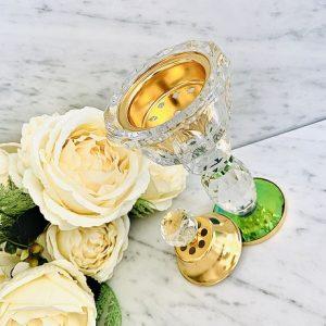 Encensoir cristal JUMEIRAH GOLD ARD AL ZAAFARAN parfumerie oriental Bakhoor encens parfum d'ambiance
