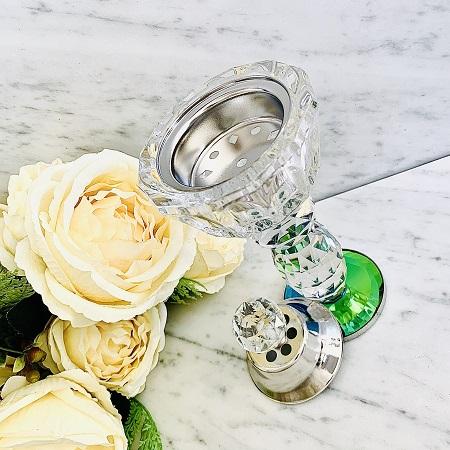 Encensoir cristal JUMEIRAH SILVER ARD AL ZAAFARAN parfumerie oriental Bakhoor encens parfum d'ambiance