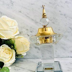 Encensoir cristal TRAVEL ARD AL ZAAFARAN parfumerie oriental Bakhoor encens parfum d'intérieur