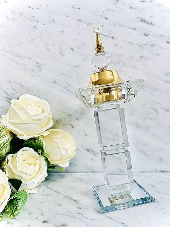 Encensoir cristal TRAVEL XL GOLD ARD AL ZAAFARAN parfumerie oriental Bakhoor encens parfum d'intérieur