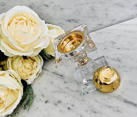 Encensoir crital Oriental AL RAAS GOLD ARD AL ZAAFARAN parfum d'ambiance bakhoor encens