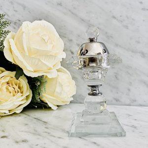Encensoir crital Oriental AL RAAS SILVER ARD AL ZAAFARAN parfum d'ambiance bakhoor encens