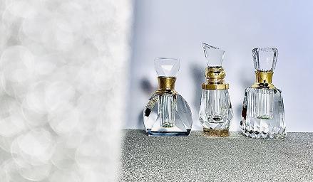 Flacon cristal ard al zaafaran huile de parfum oriental